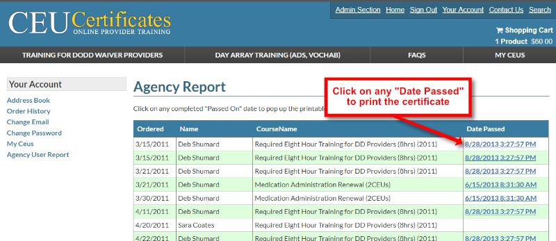 Agency Training